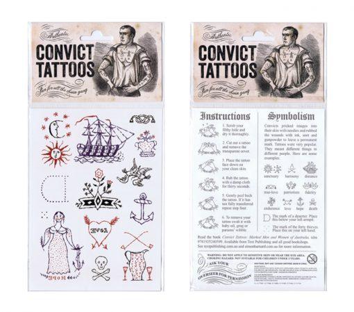 Temporary Convict Tattoos